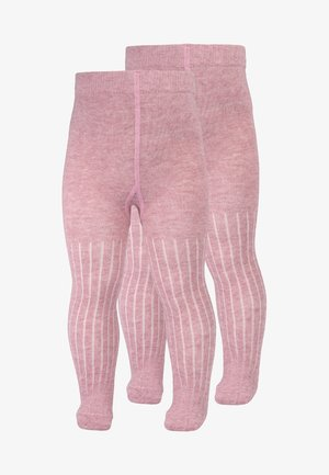 TIGHTS CLOUDE BABY 2 PACK - Tights - chalk pink melange