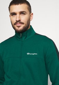 Champion - FULL ZIP SUIT SET - Trainingspak - green/black - 6