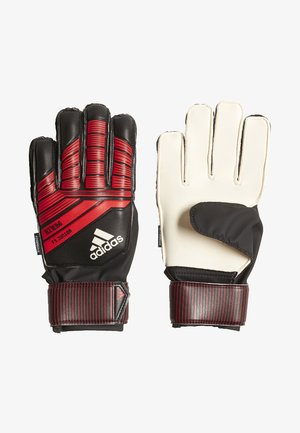 PREDATOR FINGERSAFE JUNIOR - Goalkeeping gloves - black/red/white