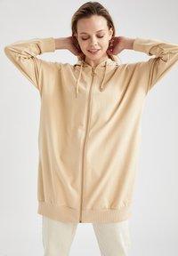 DeFacto - Zip-up hoodie - beige - 4