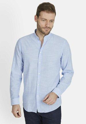 STREIFEN-HEMD STEHKRAGEN - Shirt - blau