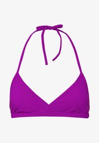 Weekday - FARAWAY RIBBED SWIM TOP - Bikini top - purple - 4