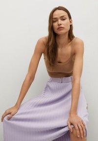 Mango - KATYA - A-line skirt - lys/pastell lilla - 5