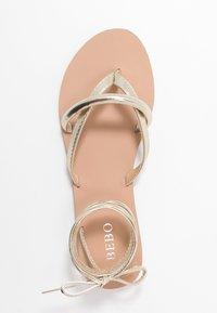 BEBO - BARE - Sandály s odděleným palcem - gold - 3