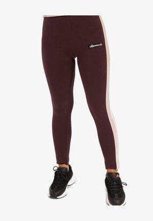 SANDRA - Leggings - Trousers - dark purple