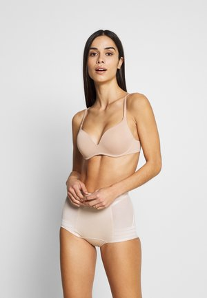 GEO LOW LEG - Shapewear - almond