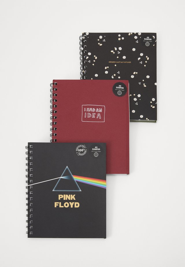 A5 CAMPUS NOTEBOOKS 3 PACK - Övrigt - multi-coloured