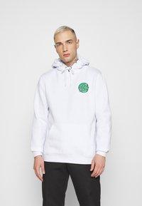 Santa Cruz - OTHER JAPANESE DOT HOODIE UNISEX - Sweatshirt - white - 2