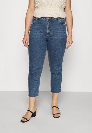 CARMILY LIFE RAW ANKLE JEANS  - Slim fit jeans - medium blue denim