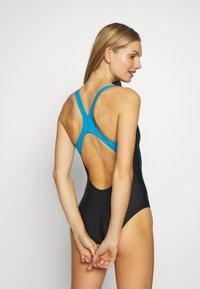 Arena - STAMP SWIM PRO BACK ONE PIECE - Swimsuit - black/turquoise - 2