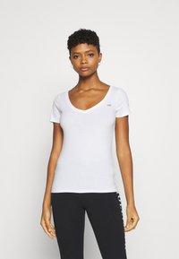 Hollister Co. - Print T-shirt - white/pastel green/mellow rose - 5