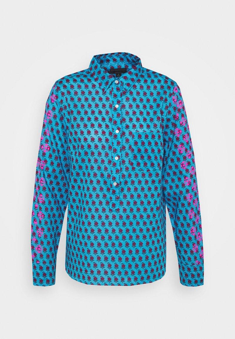 J.CREW - Button-down blouse - blue/pink