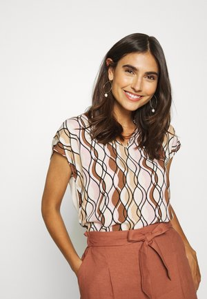 Blouse - powder creme/multicolor