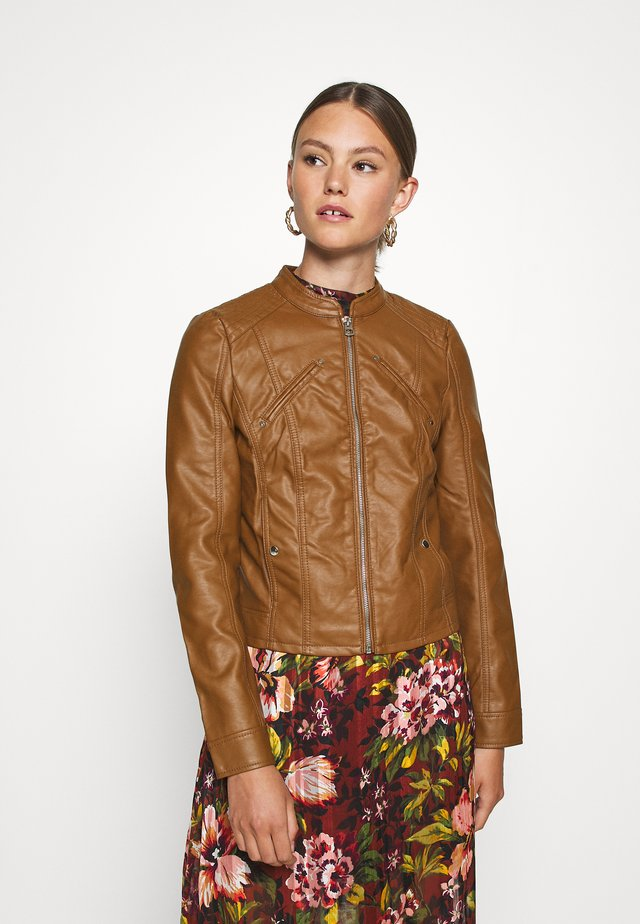VMFAVODONA - Faux leather jacket - cognac