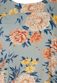 Zizzi - Day dress - light blue flower - 5