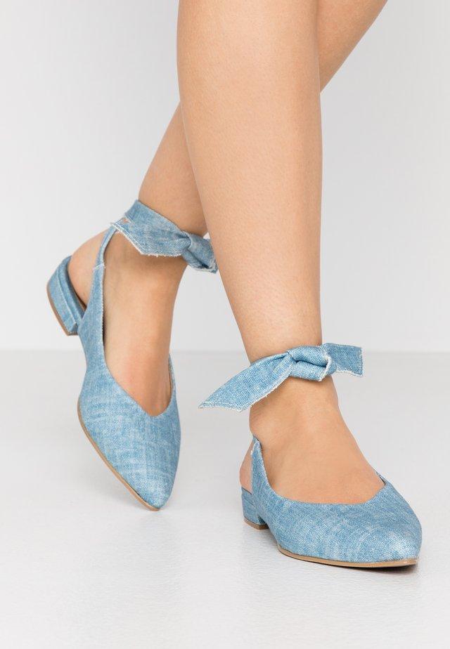 BETH - Ballerinaskor med slingback - blue