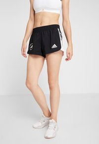 adidas Performance - SPORT CLIMALITE WORKOUT GRAPHIC SHORTS - Sports shorts - black - 0