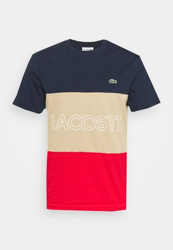 T-shirt con stampa - marine viennois-rouge