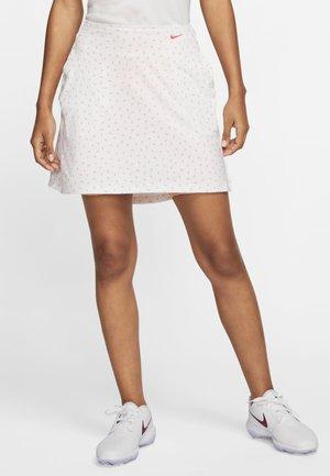 DRY UV VICTORY SKIRT  - Sports skirt - white/sunset haze/laser crimson