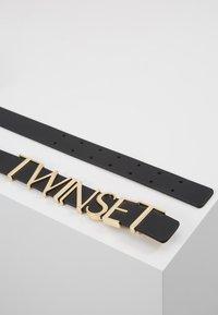 TWINSET - CINTURA CON LETTERING - Pásek - nero - 2