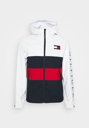 COLOURBLOCK HOODED JACKET - Vodotěsná bunda - white