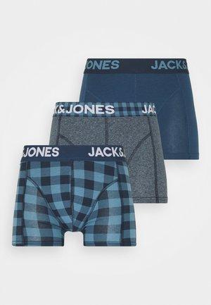 JACREECE TRUNKS 3 PACK - Boxerky - dark blue denim
