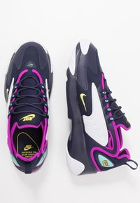 Nike Sportswear - ZOOM  - Sneakers - blackened blue/dynamic yellow/white/aurora green/hyper violet - 1