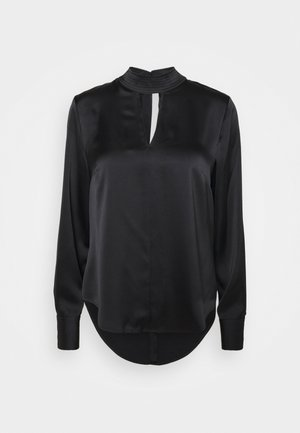 CUT OUT DETAIL - Blouse - black