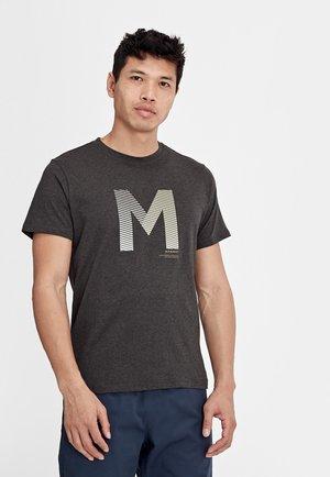 SLOPER - Print T-shirt - phantom melange