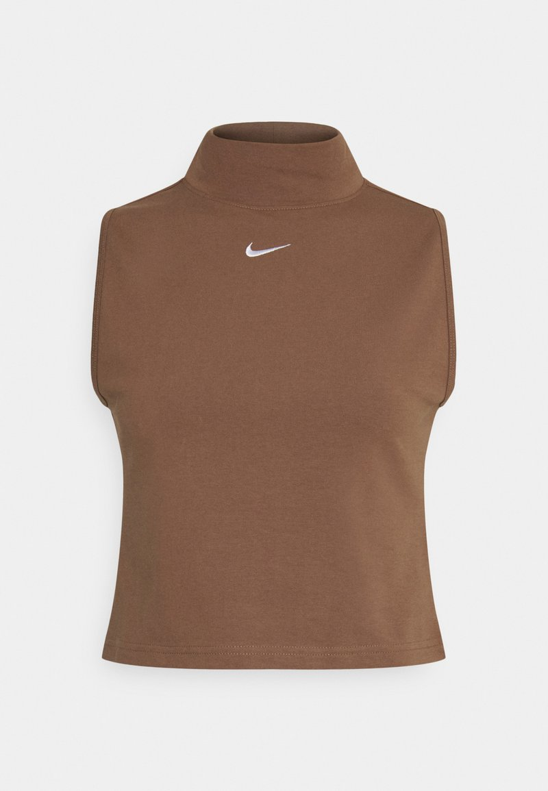 Nike Sportswear - MOCK - Top - archaeo brown/white