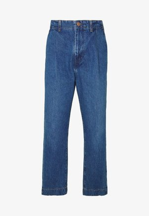 PLEATED  - Jeansy Relaxed Fit - phelps blue