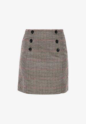 A-line skirt - beige glencheck