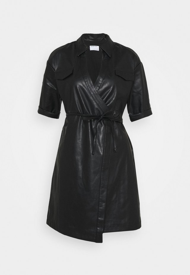 MARIE WRAP DRESS - Abito a camicia - black