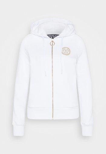Felpa con zip - white/gold