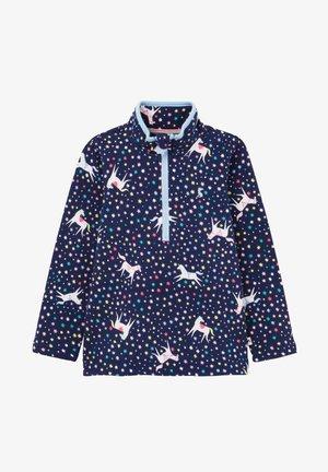 BEDRUCKTES MIT HALBEM REISSVERSCHLUSS FAIRDA - Sweatshirt - blaues juwel