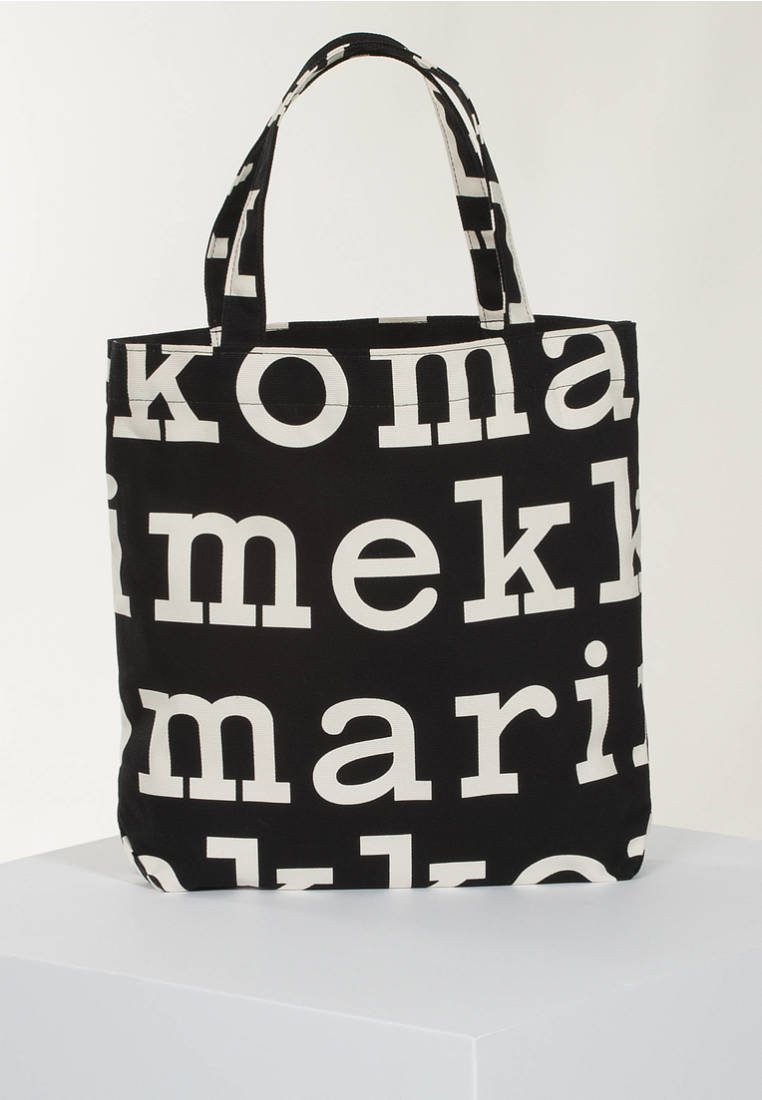Marimekko Shopping Bag - Black/off White/mehrfarbig