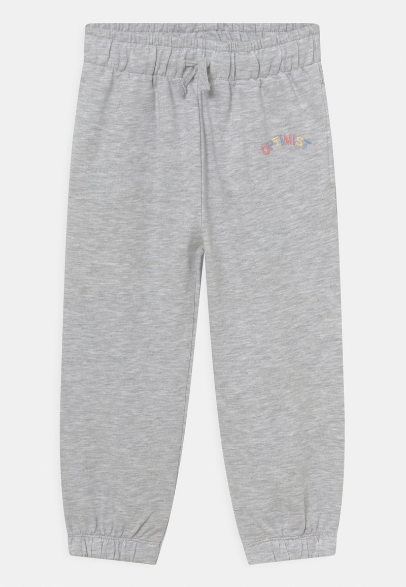 KIDS by NA-KD - ORGANIC BASIC - Pantalones deportivos - light grey melange