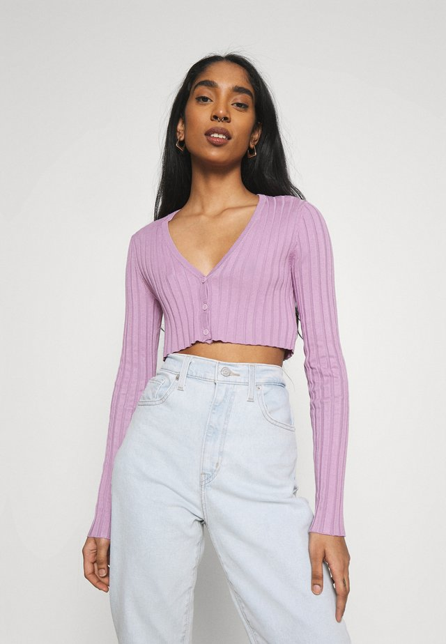 DORIS CROPPED CARDIGAN - Kardigan - purple