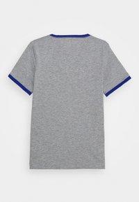 Converse - VINTAGE LOGO RINGER TEE - Print T-shirt - dark grey heather/blue - 1