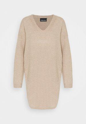 PCSTAR V-NECK - Jumper dress - natural