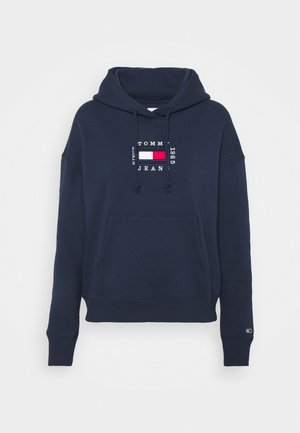 BOX FLAG HOODIE - Kapuzenpullover - twilight navy