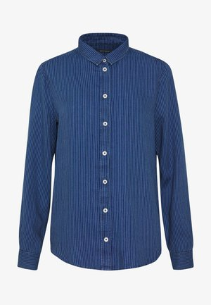 BLOUSE KENT COLLAR LONG SLEEVED PLEATS DETAILS - Skjorte - blue