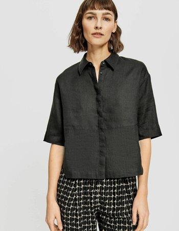 FRIEDI - Button-down blouse - black
