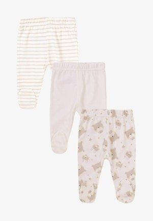 3 PACK - Leggings - Trousers - cream/beige