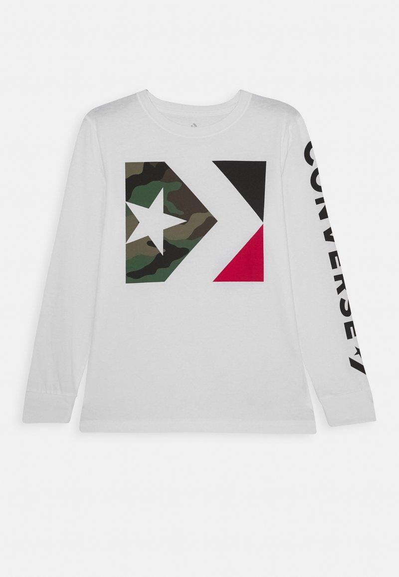 Converse - WORDMARK CAMO TEE - Long sleeved top - white