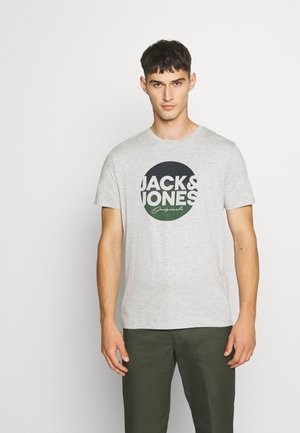 JORTORPEDO TEE CREW NECK - T-shirt imprimé - light grey melange