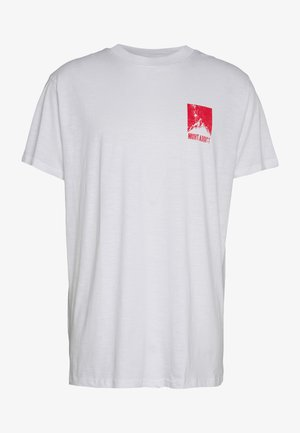 DASHE - T-shirt med print - white/red