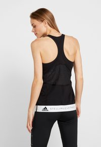 adidas by Stella McCartney - LOGO TANK - Linne - black - 2