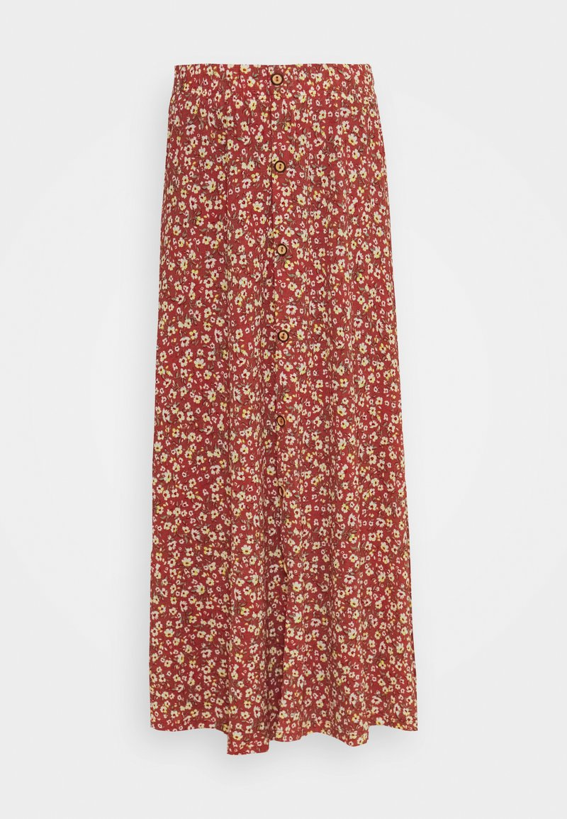 ONLY - ONLPELLA SKIRT - Maxi skirt - mineral red