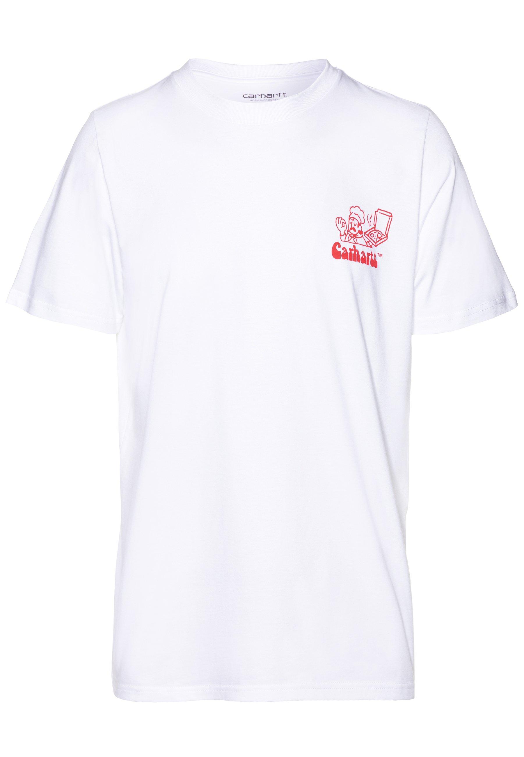 Tiranía Ananiver tolerancia  Carhartt WIP BENE - Camiseta estampada - white/red/blanco - Zalando.es